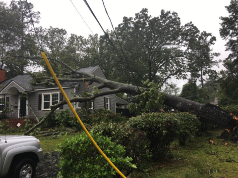 Following Hurricane Florence, Fayetteville PWC was able to act quickly because their Sensus solution alerted them to exact outage locations. (Photo: Business Wire)