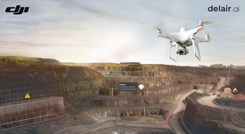 Through the support of DJI systems with the delair.ai platform, customers now have with Delair a one-stop shop and optimal panel of options for their digital transformation through visual data. (Photo: DELAIR)