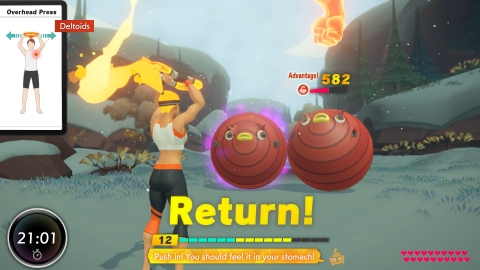 Ring Fit Adventure turns a typical adventure game on its head as players squat, press and flex their way through challenges designed for a wide range of body types and levels of fitness experience. (Graphic: Business Wire)