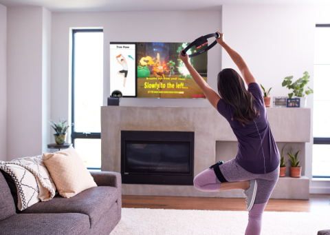 In the Ring Fit Adventure game for the Nintendo Switch system, players explore an expansive world, battling enemies along the way using real-life exercises to perform in-game attacks. The new Ring-Con and Leg Strap accessories that are included with the game respond to the player's real-world movements, allowing the game to turn them into in-game actions. (Photo: Business Wire)