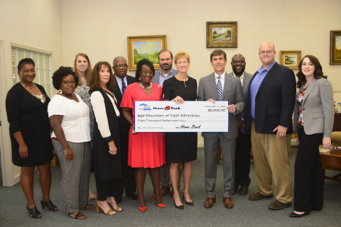 Home Bank and FHLB Dallas awarded $8,000 in Partnership Grant Program funds to Mountain of Faith Ministries, which works to provide support to homeless women and children in Vicksburg, Mississippi. (Photo: Business Wire)