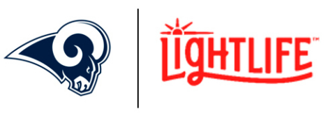 In the first-of-its kind partnership the Lightlife® Burger will be available at Los Angeles Rams home games this season, starting this Sunday, September 15 as the Rams take on the New Orleans Saints. (Graphic: Business Wire)