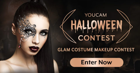 YouCam Makeup launches a Halloween Costume Contest inviting makeup artists to enter their best costume beauty looks for a chance to have their own AR virtual beauty style featured in app. (Photo: Business Wire)