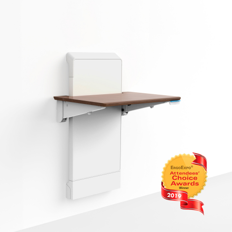 Ergotron WorkFit Elevate receives Attendees' Choice Award at 2019 ErgoExpo, the ergonomics industry tradeshow. (Photo: Business Wire)