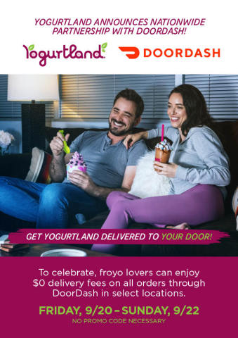 Yogurtland Announces Nationwide Partnership with DoorDash (Graphic: Business Wire)