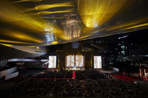 Busan Metropolitan City hosts the 24th Busan International Film Festival and G-STAR 2019. 2019 Busan International Film Festival (BIFF) will showcase 303 films on 37 screens from October 3 to 12. Game Show & Trade, All-Round 'G-STAR 2019', the global game exhibition, will take place at BEXCO, Busan from November 14 to 17. The photo shows the 23rd Busan International Film Festival 2018 Opening. (Photo: Business Wire)