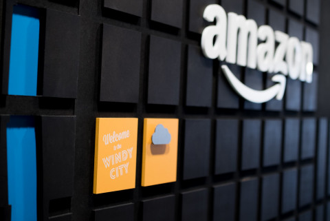 A detail of Amazon's Tech Hub in Chicago, where the company has plans to create 400 new jobs. (Photo: Business Wire)