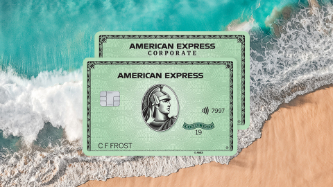 American Express Consumer & Corporate Green Cards Made Primarily with Reclaimed Plastic from Parley for the Oceans (Graphic: Business Wire)