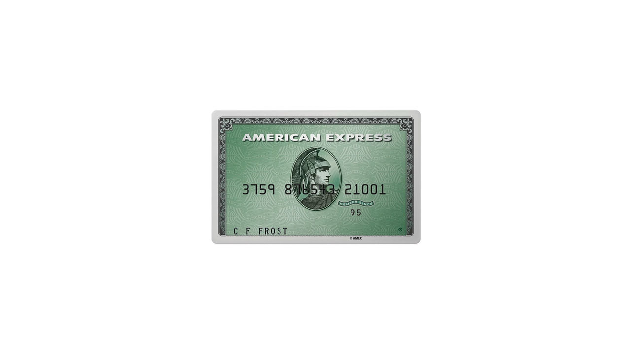 The American Express Green Card made primarily with reclaimed plastic from Parley for the Oceans