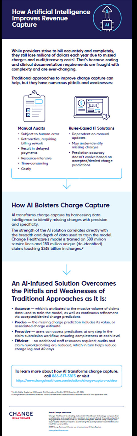 Change Healthcare Charge Capture Advisor Infographic