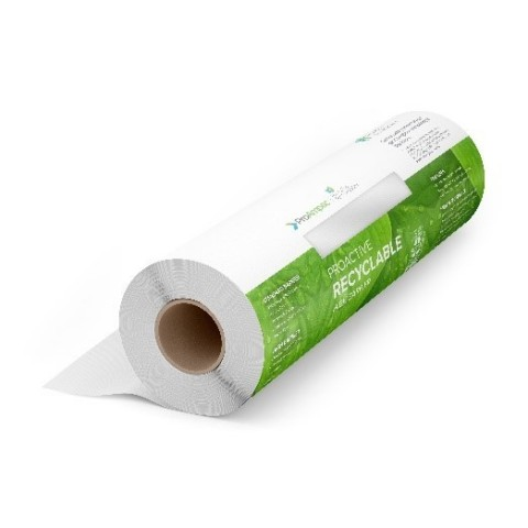 ProActive Recyclable R-1000 rollstock film for flexible packaging by ProAmpac. Outperforms typical mono material films allowing for high-speed filling applications with superior quality. (Photo: Business Wire)