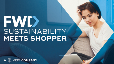 New sustainability marketing service from Theory House: Where sustainability meets shopper. (Graphic: Business Wire)