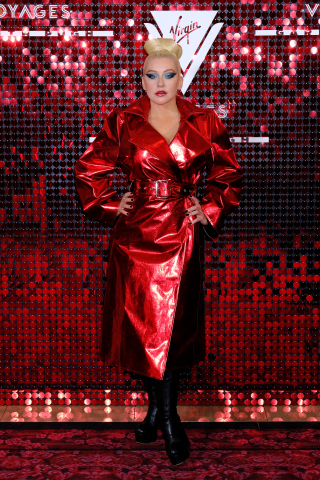 Christina Aguilera Surprises Guests at the Virgin Voyages and Gareth Pugh Collaboration Launch Party with a Live Performance. (Photo: Business Wire)