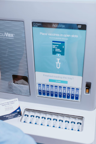 The New AccuVax ES - simplifies vaccine management and automates compliance! (Photo: Business Wire)