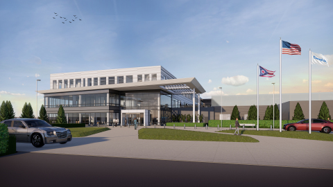 The front entrance of Swagelok's new global headquarters will feature a driveway dedicated for visitors for direct access into the company's new Customer Welcome and Innovation Center. (Graphic: Business Wire)
