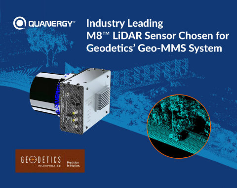 Industry Leading M8™ LiDAR Sensor Chosen for Geodetics' GEO-MMS System (Graphic: Business Wire)