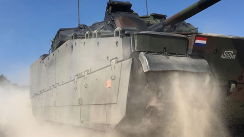 BAE Systems will integrate Elbit Systems' Iron Fist Active Protection System into the Dutch Army's fleet of CV90s following successful integration testing. (Photo: BAE Systems)