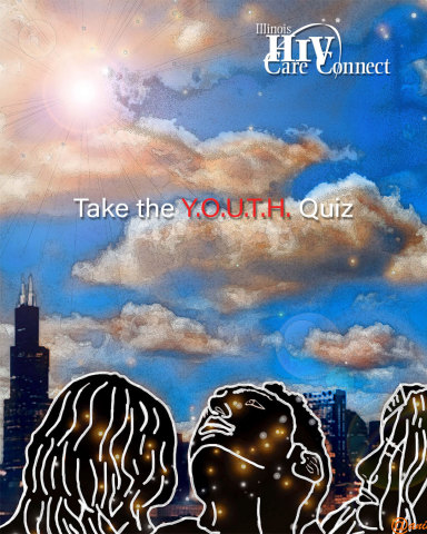 Take Illinois HIV Care Connect's Y.O.U.T.H. Quiz and earn a chance to win a $25 VISA gift card. Both youth living with HIV and youth who are HIV-negative are encouraged to take the quiz. (Graphic: Business Wire)