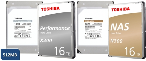 東芝: コンシューマー向け3.5型ハードディスクドライブ「N300 NAS Hard Driveシリーズ」と「X300 Performance Hard Driveシリーズ」(イメージ画像)(画像:ビジネスワイヤ)