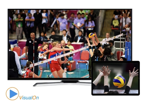 VisualOn and KDDI have partnered to enable Fuji Television Network, Inc. to provide fans a compelling experience for the 2019 FIVB Volleyball World Cup Japan. Viewers will be able to watch the matches in ultra-low latency as well as use a second screen to view different camera angles – following popular players or watching a ceiling cam, allowing a better view of movements and tactics – promising a revolutionary, immersive sports experience. (Photo: Business Wire)
