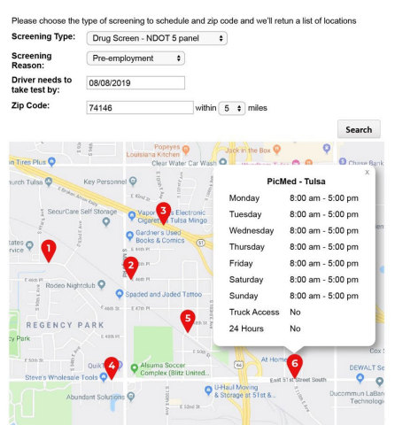 Through HireRight's drug screening integration with Tenstreet, Pulse MD helps carriers find screening locations that are convenient for their drivers. (Graphic: Business Wire)