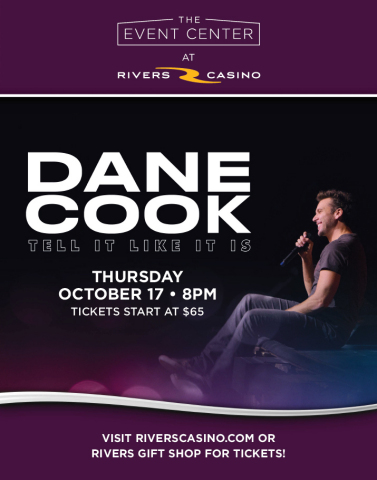 Actor and comedian Dane Cook brings his stand-up comedy show to The Event Center at Rivers Casino on Thursday, Oct. 17, at 8 p.m. Tickets are on sale now and start at $65. (Photo: Business Wire)