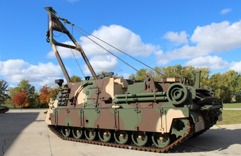 The new M88A3 configuration eliminates the necessity of using two vehicles to raise and move tanks, which have become heavier over time. (Photo: BAE Systems)