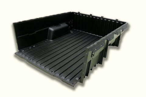 The CSP Victall composite pickup box used in the JMC Yuhu 3 and Yuhu 5 models is the first use of composites in a pickup box in China. (Photo: Business Wire)