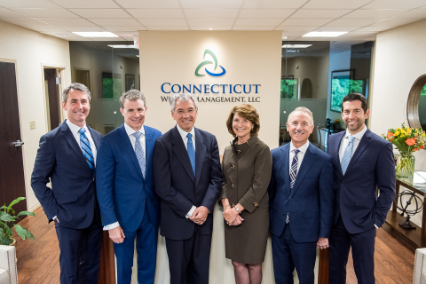 Left to right: Denis M. Horrigan, CFP®, Partner Kevin C. Leahy, CPA, CFP®, Chief Executive Officer Bichop J. Nawrot, CFP®, Partner Claudia J. Jacques-Soto, CFP®, Partner Michael A. Tedone, CPA/PFS, Partner Jarrett F. Solomon, CFP®, CIMA® (Photo: Business Wire)