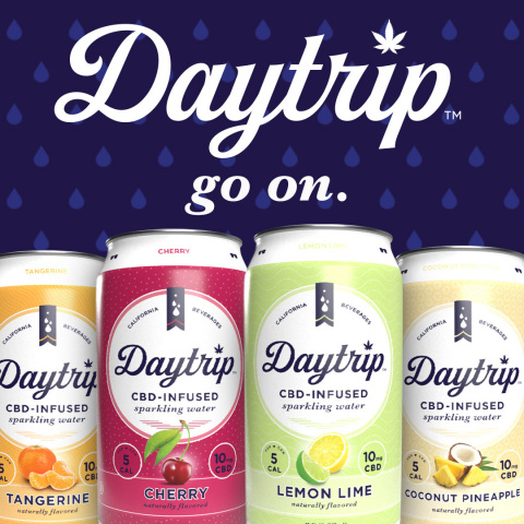 Daytrip's premier CBD infused sparkling water line. (Photo: Business Wire)