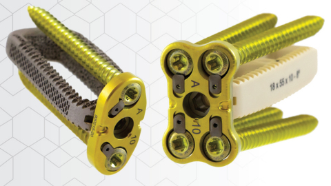 The CoreLink Oro Lateral Plate System provides a low-profile solution for lateral lumbar plating featuring an automatic locking mechanism to prevent screw back-out and the ability to connect to the CL5 & F3D Lateral interbodies for enhanced operating room efficiency. (Photo: Business Wire)