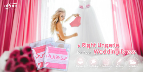 """aPure Pure5.5 pH Balancing Underwear provides Wicking & Breathable features that make you """"AS COMFORTABLE AS POSSIBLE"""" on the big day. (Photo: Business Wire)"""