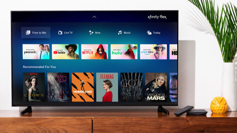 "Xfinity Flex's new ""Free to Me"" destination where customers can easily browse more than 10,000 free movies and TV shows, and live streaming including live news and sports in addition to all the content included with their streaming subscriptions. (Photo: Business Wire)"