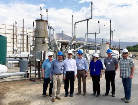 Congressman Pete Aguilar and his team tour the NTS San Bernardino laboratory. (Photo: Business Wire)