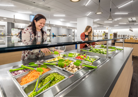 Employees at Unum's Portland, Maine campus enjoy subsidized healthy food choices through the company's Eat Well program. (Photo: Business Wire)
