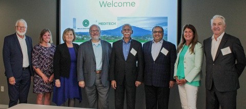 Executives and leaders from MEDITECH, MEDITECH South Africa, and Aga Khan University are excited to partner together to deliver quality healthcare to underserved populations. (Photo: Business Wire)