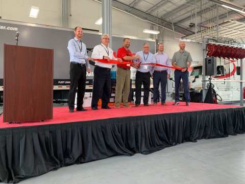 Ryder executives and employees during the ribbon cutting ceremony in Schertz, TX. (Photo: Business Wire)
