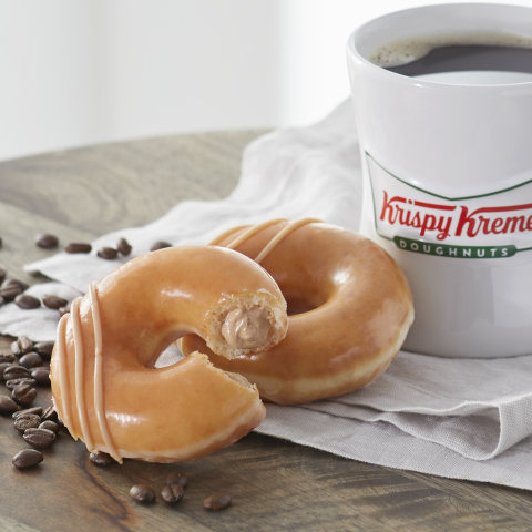 The new Original Filled doughnut will fuel the week leading up to Krispy Kreme's one-day-only free doughnut and coffee offer at participating shops Sunday, Sept. 29 (Photo: Business Wire)