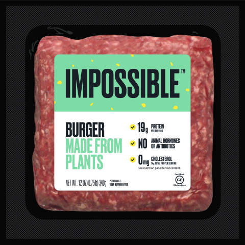 A 12-ounce package of Impossible Burger will cost $8.99 at Gelson's Markets, available in the meat cases, both fresh and frozen. (Photo: Business Wire)