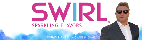 Michael Michail, CEO of United Brands, is again ready to invigorate the industry through his latest brand, SWIRL. (Graphic: Business Wire)