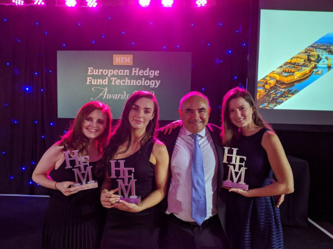 Based on the views of the appointed CTO judging committee and a polling of the HFM Technology readership, Options was voted 'Best IT Managed Service, 'Best Infrastructure Provider' and 'Best Overall Technology Firm'. (Photo: Business Wire)