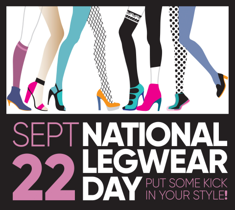 Sept. 22 is National Legwear Day! Celebrate by wearing your favorite sheers, tights, thigh highs, socks or leggings! (Graphic: Business Wire)