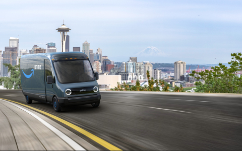 Amazon announced the order of 100,000 electric delivery vehicles from Rivian, the largest order ever of electric delivery vehicles, with vans starting to deliver packages to customers in 2021. (Photo: Business Wire)
