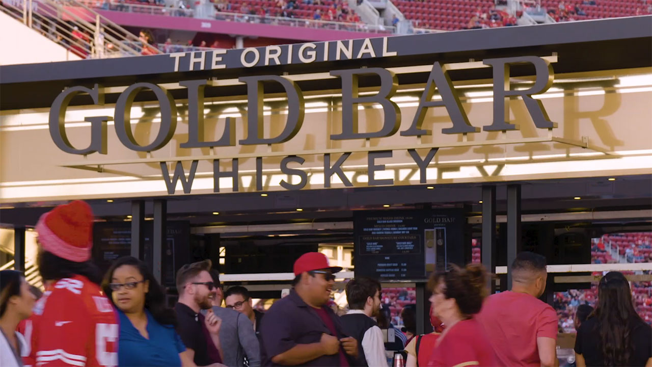 The 49ers Gold Bar Whiskey bar at Levi's Stadium