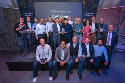 Robosense Along With Other Winnners At The Autosens Awards Ceremony At Brussels, Belgium (Photo: Business Wire)