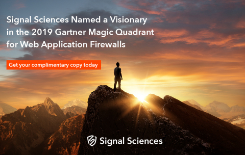 Signal Sciences Named a Visionary in the 2019 Gartner Magic Quadrant for Web Application Firewalls (Graphic: Business Wire)