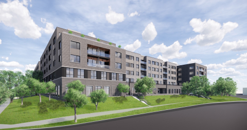 Artist's rendering of The Sheridan at Oak Brook. The community began construction on August 19, 2019. For more information, visit seniorlifestyle.com. (Photo: Business Wire)
