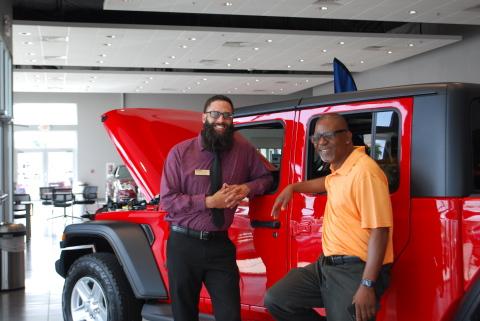 Lithia CDJR Corpus Christi sales representatives Cody Carpenter and Harold Riley (Photo: Business Wire)