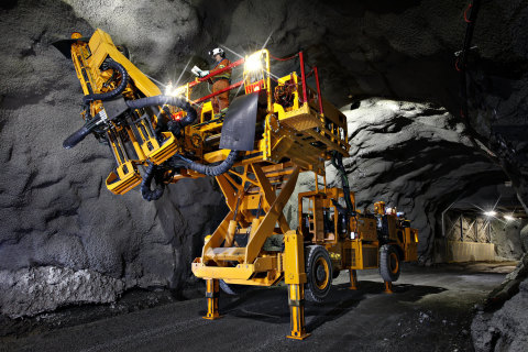Battery electric bolter in use at Borden underground - manufactured by Ontario-based MacLean Engineering. (Photo: Business Wire)