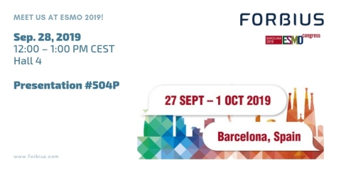 Forbius will present at ESMO on Saturday, Sep. 28, at 12:00 PM CEST in Hall 4 (Graphic: Business Wire)